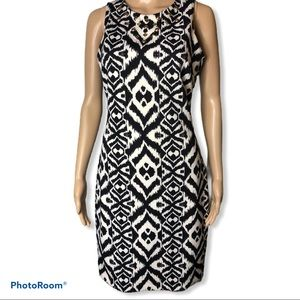 Belle BADGLEY MISCHKA Ikat sleeveless shift dress
